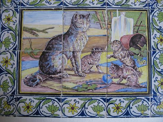 Mosaico en el Museo de gatos KattenKabinet