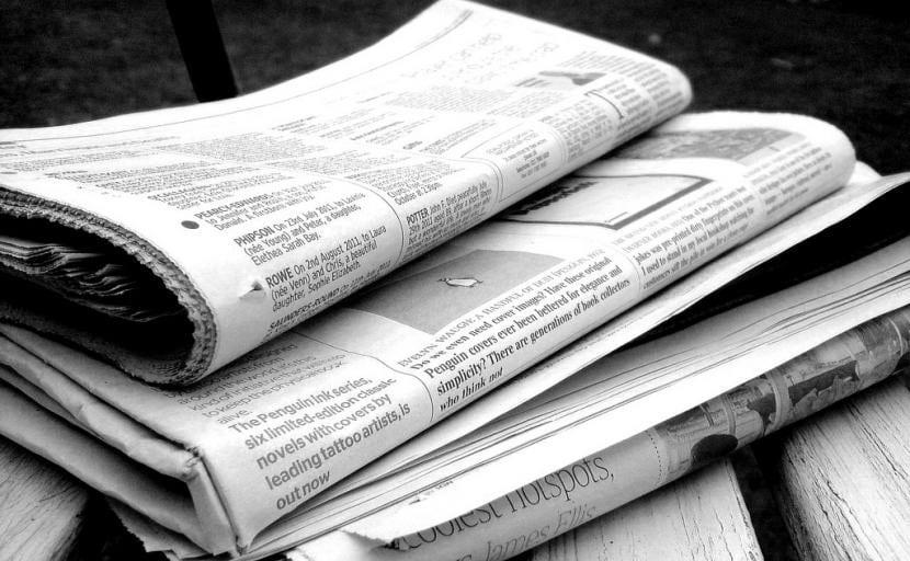 Periódicos para hacer arena