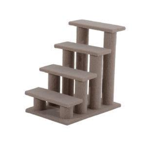 Modelo de rascador con forma de escalera para gatos