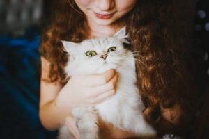Gato con mujer