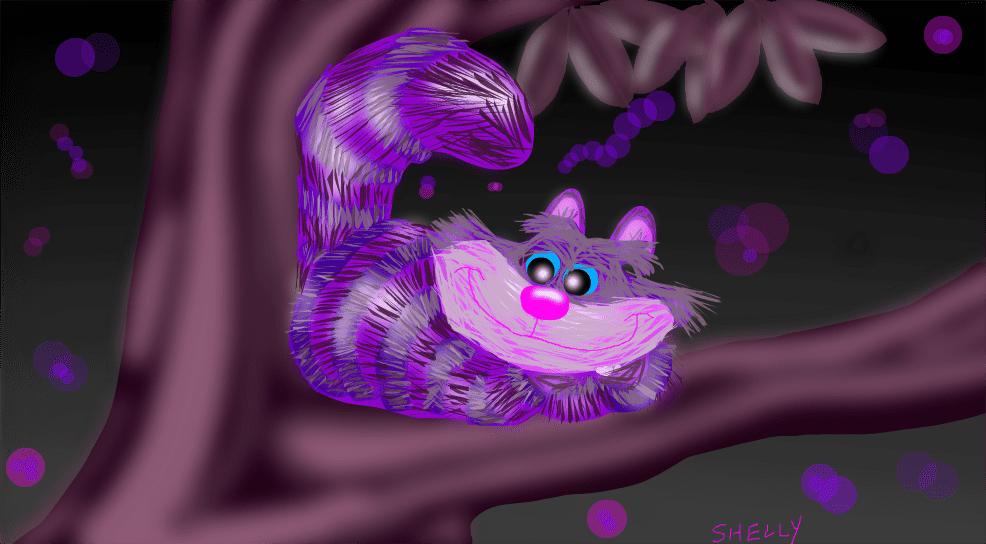 Dibujo del gato Cheshire