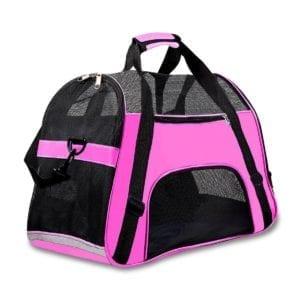 Modelo de bolso rosa transpirable para gatos