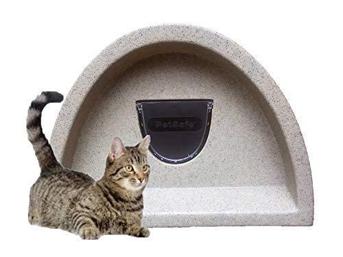 Vista de una preciosa caseta para gatos