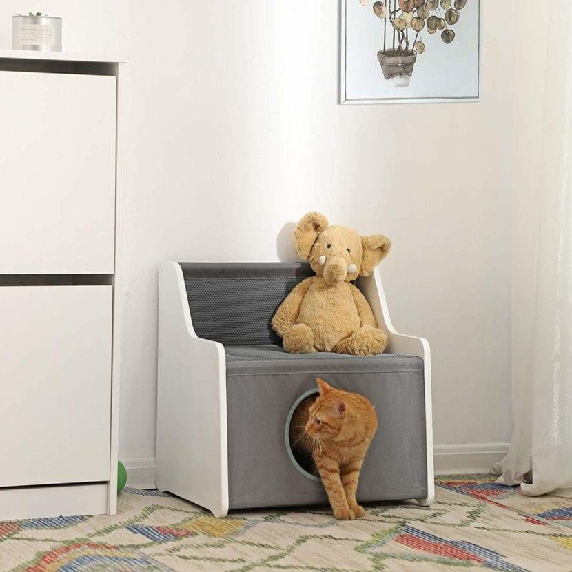 Modelo de casa-cueva para gatos