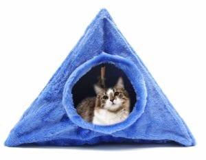 Modelo de casa triangular para gatos