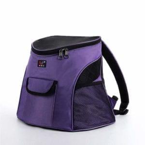 Modelo de mochila de color lila para gatos