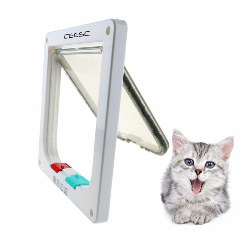 Las puertas para gatos son ideales para gatos que salen al exterior