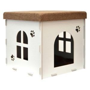 Modelo de caseta para gatos