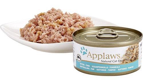 Vista de la comida húmeda de Applaws